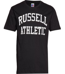 ru iconic s/s t-sh t-shirts short-sleeved svart russell athletic