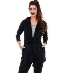 casaco sobretudo jogabe cinto preto - tricae