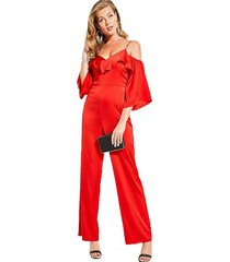 enterito off  andie jumpsuit rojo guess
