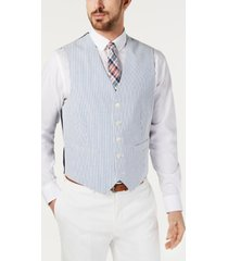 tommy hilfiger men's thflex modern-fit seersucker stripe vest