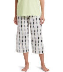 hue plaid capri pajama pants