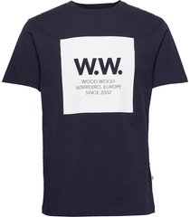 ww square t-shirt t-shirts short-sleeved blå wood wood