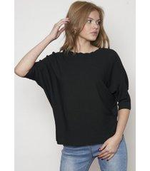 blusa design estilo ancho negra 609 seisceronueve