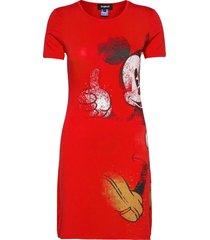 vest mickey jurk knielengte rood desigual