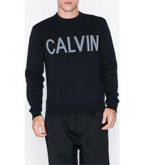 calvin klein jeans calvin cn sweater tröjor svart