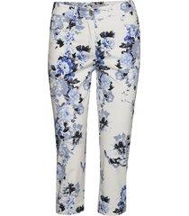 capri pants byxa med raka ben blå brandtex