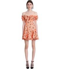 alessandra rich dress in orange silk