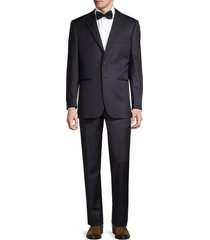 saks fifth avenue men's formal tailored-fit wool suit - navy - size 40 r