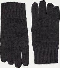 tommy hilfiger men's cotton gloves black -