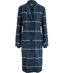cappotto lungo a quadri con bordi a costine (blu) - bpc bonprix collection