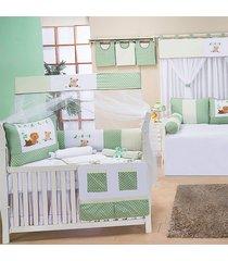quarto completo padroeira baby animais verde