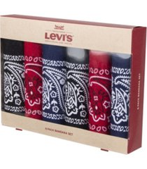 levi's men's bandana headband gift sets - pack of 6