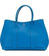 hermès 2012 pre-owned garden party tote bag - blue