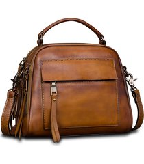 brenice vintage solid vera pelle borsa a tracolla borsa