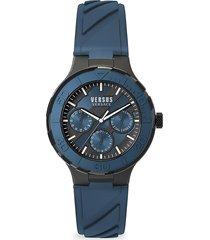 versus versace men's wynberg stainless steel silicone-strap watch