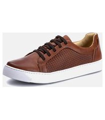 sapatenis clássico masculino macio b2c shoes tchuwm 4023 castor