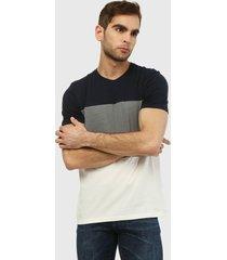camiseta azul-gris-beige gap