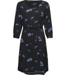 karlin dress knälång klänning blå soft rebels