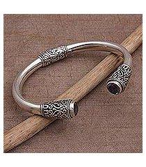 amethyst cuff bracelet, 'daylight altar' (indonesia)