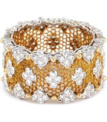 'tulle' diamond white and yellow gold ring