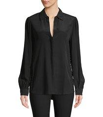 side button silk tunic