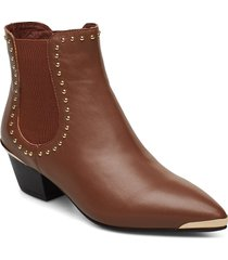 boot shoes boots ankle boots ankle boot - heel brun sofie schnoor