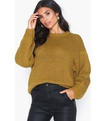 noisy may nmvera l/s loose o-neck knit stickade tröjor