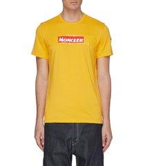logo tape print t-shirt