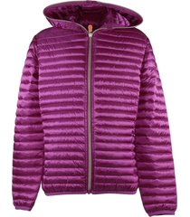 quilted nylon padded jacket with hood