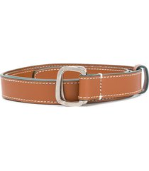 gianfranco ferré pre-owned 2000s double ring belt - brown