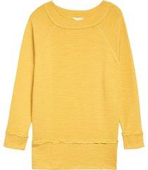 women's caslon dolman sleeve cotton blend pullover, size x-large - yellow