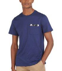 barbour men's bryce tartan-trim pocket t-shirt
