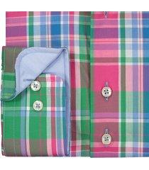 sleeve7 overhemd gekleurde ruit poplin