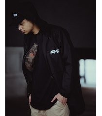 kurtka black men rain jacket