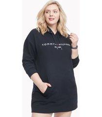 tommy hilfiger women's logo hoodie dress desert sky - s
