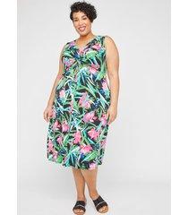 paradise twist-knot fit & flare dress
