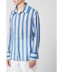 our legacy men's soul shirt - blue blur stripe - xl