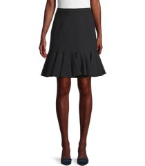 michael kors women's flounce-hem skirt - black - size 2