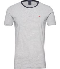 classic cotton/elastane crewneck tee t-shirts short-sleeved multi/mönstrad scotch & soda