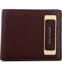 piquadro mens red wallet