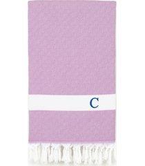 linum home personalized diamond pestemal lilac beach towel bedding