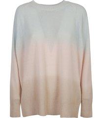ermanno scervino oversize color block ribbed sweater