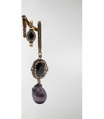 alexander mcqueen crystal-embellished drop earring