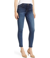 women's wit & wisdom luxe touch high waist skinny ankle jeans, size 0 - blue (nordstrom exclusive)