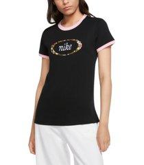 nike sportswear cotton logo ringer t-shirt