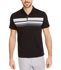 alfani men's honeycomb striped polo shirt, created for macy's