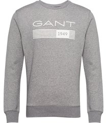 d1. 13 stripes c-neck sweat sweat-shirt trui grijs gant