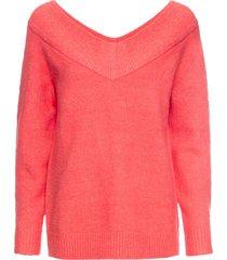maglione con scollo a v ampio (fucsia) - bodyflirt