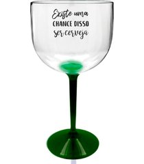 2 taças gin com base verde personalizada para live - tema cerveja