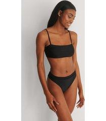 marije zuurveld x na-kd återvunnen bikinibyxa med hög midja - black